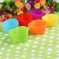 1set/12pcs Silicone Muffinform Muffin Form Kitchen Cup Cake Pudding Cup 6 Colors