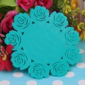 Hollow Out Rose Flower Silicone Table Cup Bowl Mat Heat Insulation Pad