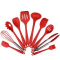 10Pcs/set Silicone Heat Resistant Kitchen Cooking Utensils Non-Stick Baking Tool