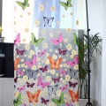 Beautiful Butterfly Print Sheer Room Divider Window Panel Curtains 1 PCS