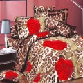 4PCs 3D Print Rose BEDDING Bed Sheets Home Textile Cover Pillow Set Queen