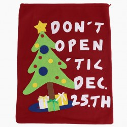 1xLarge Handmade Drawstring Bag For Christmas Party Gift Bag Flannel Pouches Bag