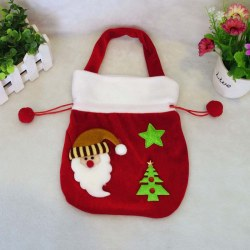 1x Christmas Gold Velvet Gift Bag Christmas Gift Bag Santa Clause /Snowman Decor