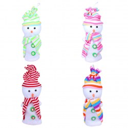 2015 New Fashion Cute Christmas Snowman Design Xmas Eve apple Candy Gift Bags