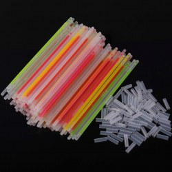100pcs Festivities Ceremony Fluorescent Bracelets Night Glow Stickers LED Toys