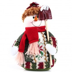 1pcs Table Ornament Snowman Design Indoor Christmas Standing Decoration Ornament
