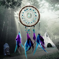 2015 New Fashion Wind Chimes Indian Style Feather Pendant Dream Catcher Gift