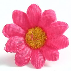 "100 pcs Gerbera Daisy Head Artificial Silk Flower Wedding Craft 1.5""  Sunflower"