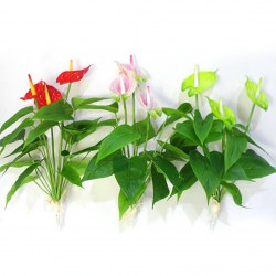 1 Bouquet Artificial Orchid Silk Flower Leaf Home Party Wedding Garden Decor DIY
