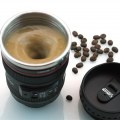 Canon Fifth Generation Stainless Steel Coffee Creative Camera Lens Mixing cup