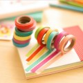 10pcs Candy Color DIY Decorative Washi Sticky Paper Adhesive Label Craft Tape