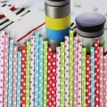 125pcs Dot Colorful Paper Drinking Straws Party Wedding Favor Straws New Fashion