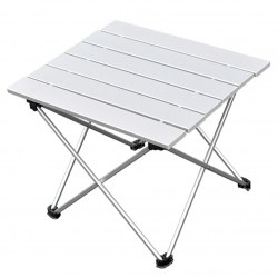 Aluminum Folding Table Portable Roll Up Table Folding for Camping Outdoor Indoor