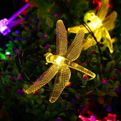 20 LED Outdoor Solar String Lights Dragonflies Shape for Christmas Trees Garden