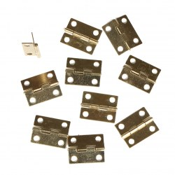10pcs Small Door Hinges With Screws Dollhouse Miniatures Fixture & Fittings New