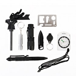 10 Sets Of Multi-purpose Outdoor Survival Outdoor Camping Adventure Tourism