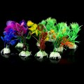 10pcs/lot Plastic Aquarium Decorations Artificial Plants Fish Tank Grass Flower