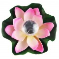 Lotus Flower Solar Power Light LED Pool Pond Color Changing Outdoor Night View
