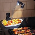 The New LED Lights Multifunction Barbecue Black ABS Material Camping Lights