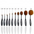 10PC/Set Professional Toothbrush Shaped Foundation Brushes Makeup Beauty Tools