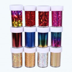 12 Bottles 12 Colors Nail Art Transfer Foil Stickers Tips Nail Deco Tool  Sets