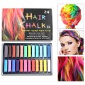 New 24 Colors Fashion Hot Fast Non-toxic Temporary Pastel Hair Dye Color Chalk