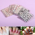 Nail Art Sticker Decal Manicure Nail Random Mix Color 3D Design Nail Sticker
