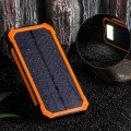 Solar Charger 6 LED Flashlight Solar Power Dual USB External Battery Charger
