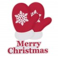 Hot Sale Very Cute X'mas Christmas Glove Gift Cartoon Car Sticker for Your Car