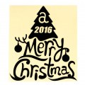 Merry Christmas Tree Style Greeting Car Body Decal PVC Sticker 3 Color