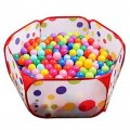 Foldable Baby Play Game Ball Pit Polka-Dots Baby Tent Marine Ball Pool Baby
