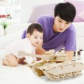 DIY 3D Wooden Tank Puzzle Handmade DIY Wooden Jigsaw Puzzles For Child Adult