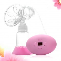 Hot Pink Electric Breast Pump with USB Cable Kit Set Light Weight Hands-Free PP