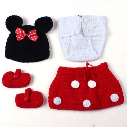 Baby Girls' Boys' Newborn Knit Crochet Cute Clothes Photo Prop Outfits