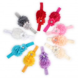 10PCS/Set Baby Girls Flower Headband Lovely Hairbow Clip Headwear Multi-colors
