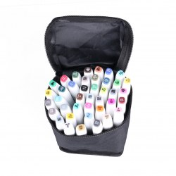 40 Color Twin Tip Marker Pen Broad Touch Five Graphic Markers Sketch Plastic