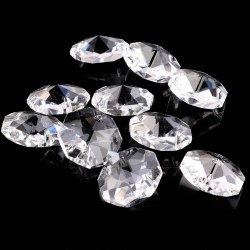 20mm Clear Crystal Octagonal Beads Crystal Chandelier Hole Prisms Bead Curtain