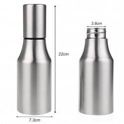 Convenient Stainless Steel Kitchen Oil Dust Bottle Leak-Proof With Pouring Spout