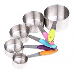 Environmental Protection And Durable 5 Sets Of Stainless Steel Measuring Cup