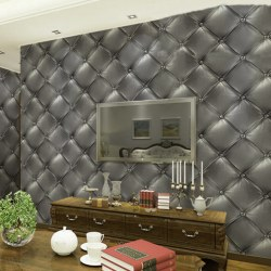 3D Fashion Luxurious Skin Of PVC Imitation Leather Effect Wall Sticker Wallpaper