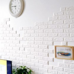 3D Brick Waterproof Self-adhesive Wall Sticker Panels Decal Background Wallpaper