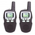 Child Interphone Black Children's Fashion Safety Plastic Interphone With Battery