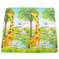 Baby Crawling Mat Outdoor Waterproof Travel Blanket Yoga Giraffe Letters Pattern