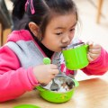 ​Baby Stainless Steel PP Feeding Cup with A Single Ear Durable for Children Baby
