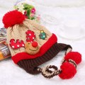 Fashion Cute Winter Warm Children Baby Christmas Cap Deer Knitting Hat 2 Colors