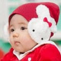 Hot Children Girl Beanie Hat Double Rabbit For Keep Ear Warm Winter Kid Cute Cap