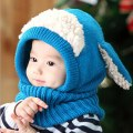 New Cute Winter Baby Kids Girls Boys Warm Woolen Knitting Hood Scarf Caps Hats