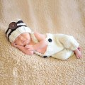 new 2 Sets Newborn Baby Girls Boys Crochet Knit Costume Photo Photography Props