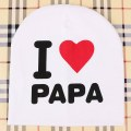 I love PAPA hat kids caps infant Cotton children Beanies Cap Toddler Boys Girls