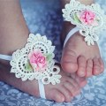 Cute Baby Girl Infant Toddler Feetband Flower Butterfly Headwear Photo Props